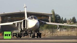Самолеты ВКС РФ возвращаются с очередного боевого задания в Сирии