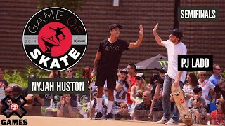 PJ Ladd vs. Nyjah Huston: GAME OF SKATE SEMIFINALS | World of X Games