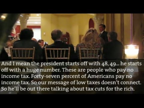"Mitt Romney's 47% speech. He said, ""There are 47% of people who will vote for the [                               Barack Obama                              ] no matter what ... there are 47% of people who are with him, who are dependent upon government, who believe they are victims, who believe the government has a responsibility to care for them, who believe they are entitled to                               healthcare                              , to food, the housing, to you name it."""