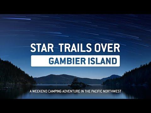 Star Trails on Gambier Island