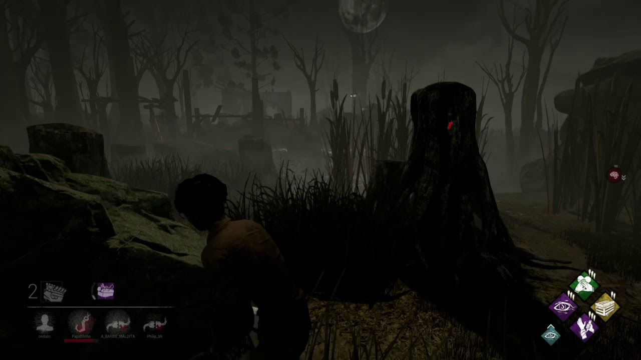 Escaping the Dr  thru hatch in Backwater Swamp - Dead by Daylight - 9-16-18
