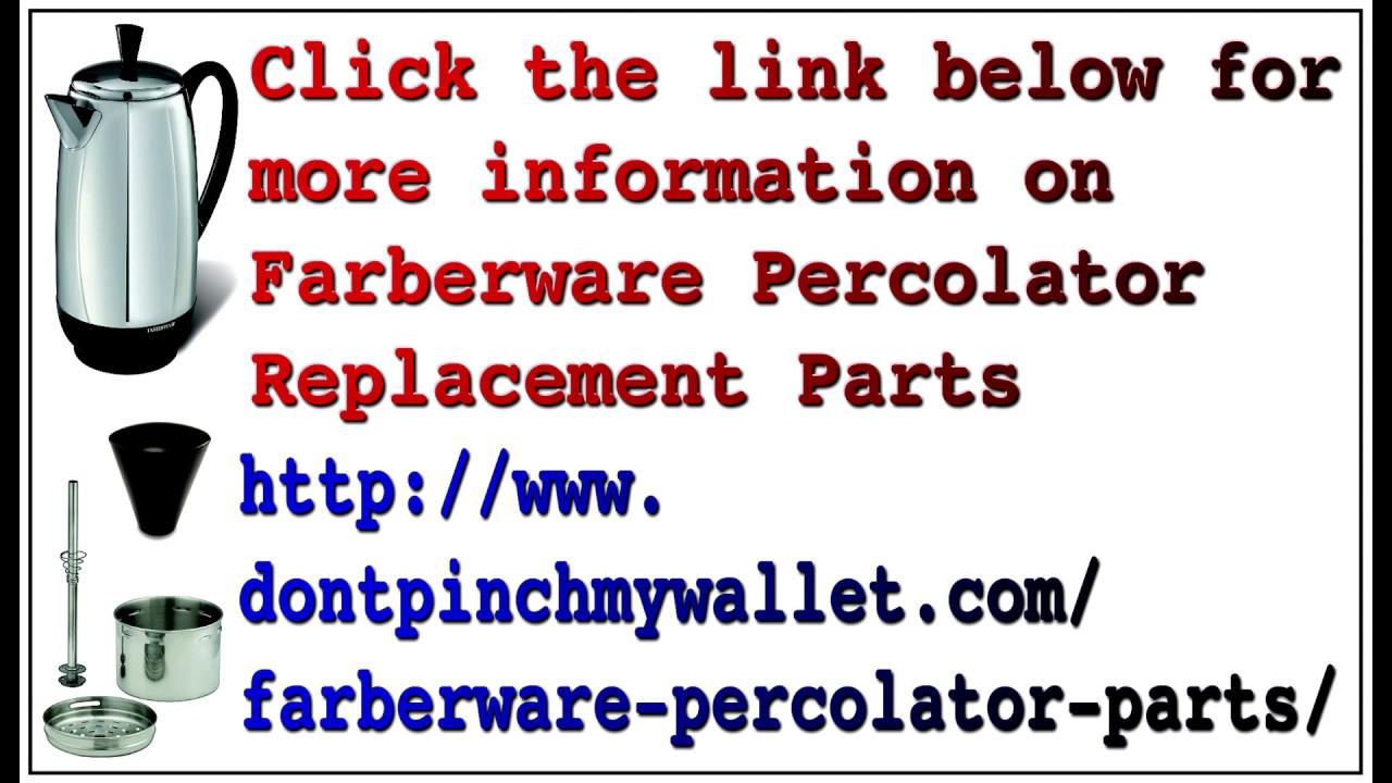 hight resolution of farberware fcp412 percolator parts