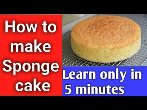 How To Make Basic Sponge Cake With Egg In Oven || Step By Step || COOKFOOD PARADISE