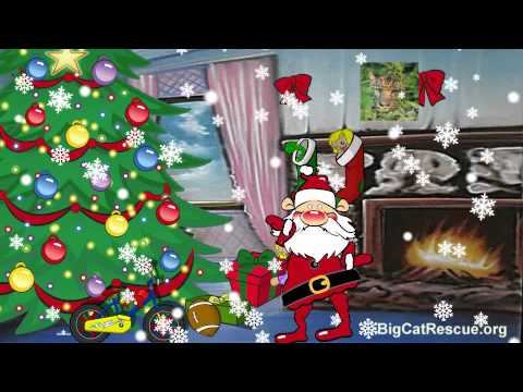Christmas video greeting card dancing santa and magical decorating christmas video greeting card dancing santa and magical decorating m4hsunfo Images