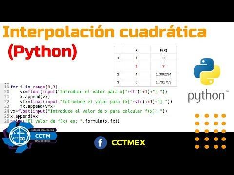 Interpolación cuadrática  | Código |Python | Métodos Numéricos  | ¡Muy básico!