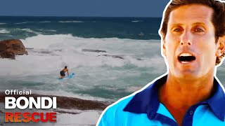 Scuba Divers Get Smashed Against Rocks - Surf Rescue Called