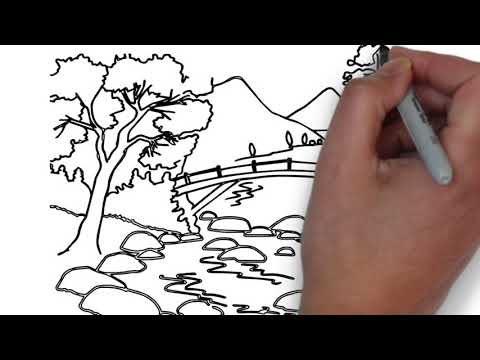 Landscape Drawing for Kids   Drawing   Like2Learn