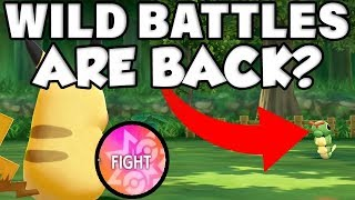 WILD POKEMON BATTLES COULD BE IN POKEMON LETS GO PIKACHU!