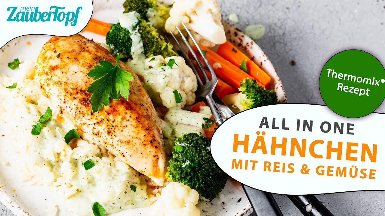 😍😍 Thermomix® ALL IN ONE Klassiker: Hähnchen mit Reis im Thermomix®   Thermomix® All in one Rezept