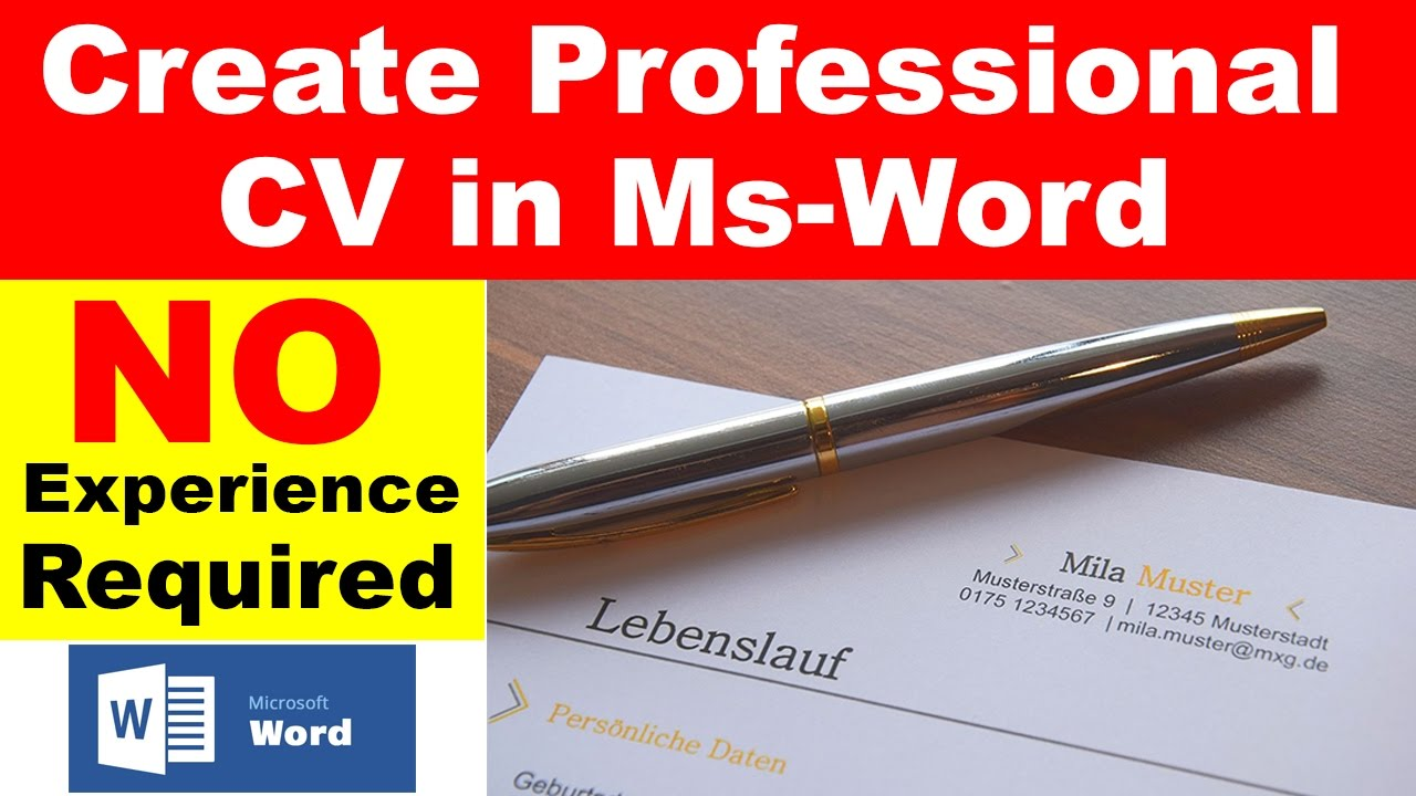how to easily make professional cv in microsoft word under  how to easily make professional cv in microsoft word under 7 minutes