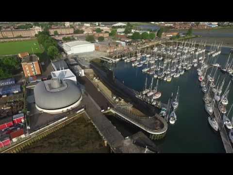 DJI phantom submarine museum Gosport