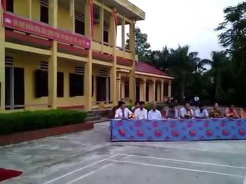 THCS Vĩnh Chân khai giảng năm học 2014 - 2015