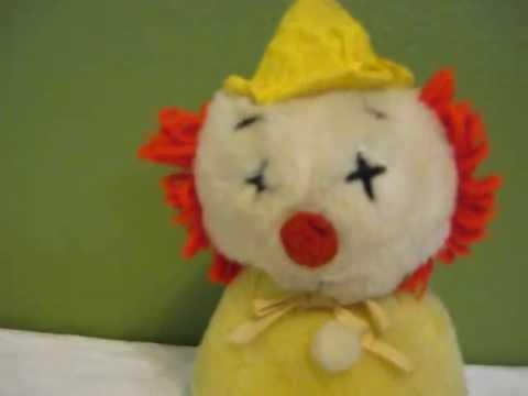 Vintage wind up musical clown