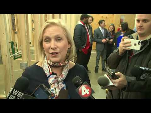 Sen. Gillibrand questioned by reporters in Buffalo