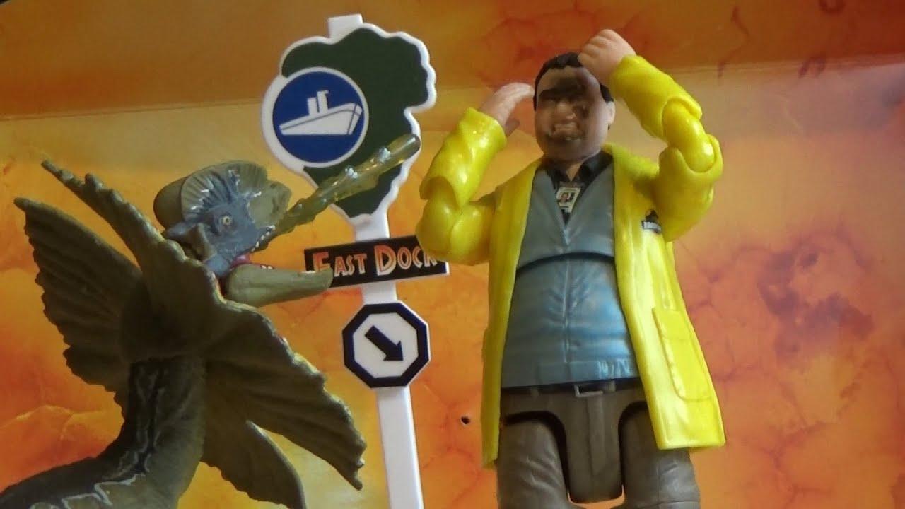 Mattel Jurassic Park Amber Collection Dennis Nedry /& Dilophosaurus Action Figure
