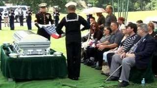 Funeral for Marine Lance Cpl. Aaron Simons, killed in Iraq.