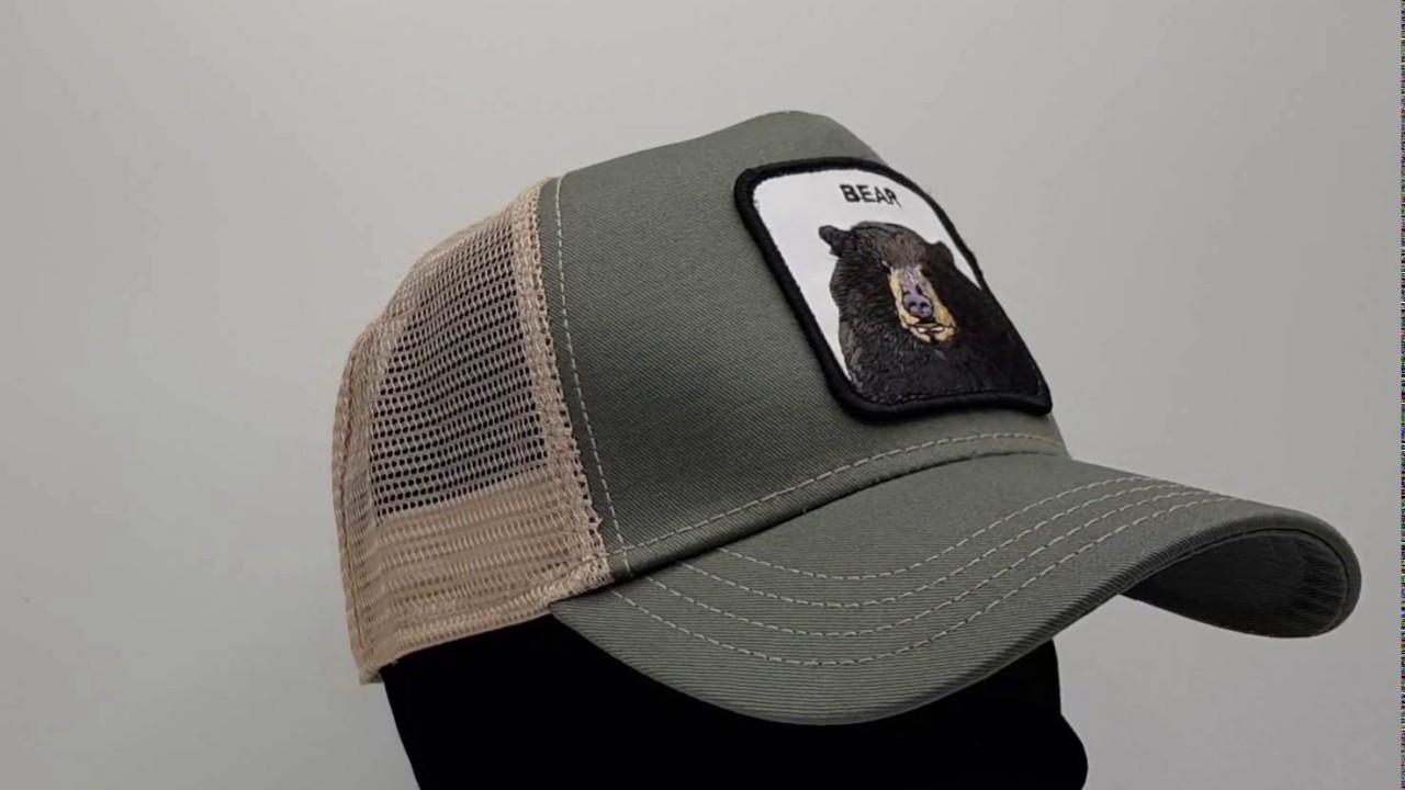 3cd551fd Goorin Bros. Black Bear Trucker cap - Olive - €34,95 - GRATIS Verzending -  CapKopen.nl