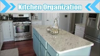 Organized Kitchen on a Budget Kitchen Cabinets and Drawer Organization