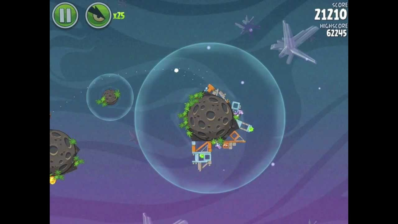 angry birds space 2-25 eggsteroid