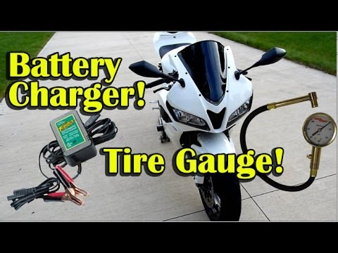 Motorcycle Battery Charger and Tire Pressure Gauge Review Recommendation