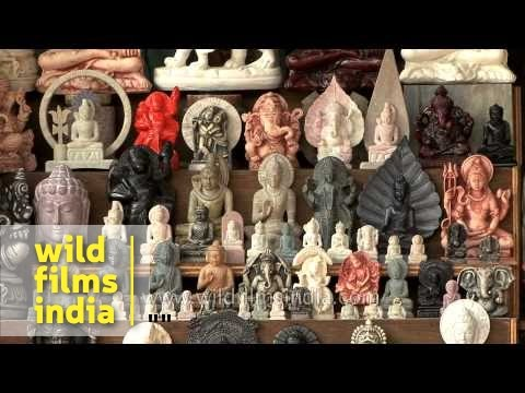 Statues of God and Goddess for sale in local market of Varanasi