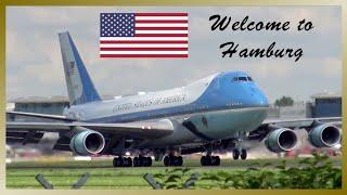 Air Force One | President Donald Trump landing at Hamburg Airport | G20 summit