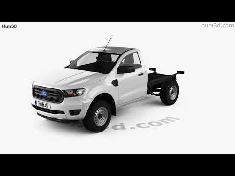 Ford Ranger Single Cab Chassis XL 2018 3D model by Hum3D.com