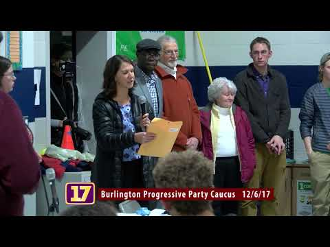 Burlington, VT Progressive Party Caucus 12/6/17