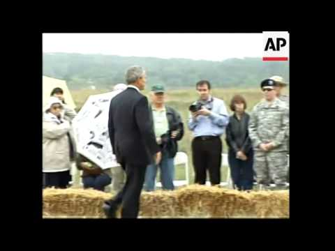 WRAP Memorial for the victims killed in UA flight 93, adds Bush