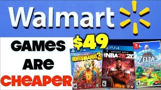 Buying Games From Walmart Is Cheaper