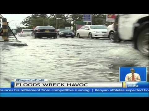 Nairobi CBD flooded by heavy overnight rains