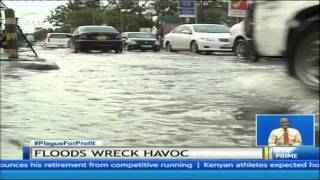 Nairobi CBD flooded by heavy overnight rains