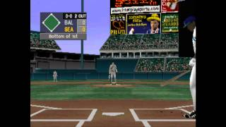 Interplay Sports Baseball 2000 (PSX) Gameplay - Orioles vs. Mariners (2 innings)