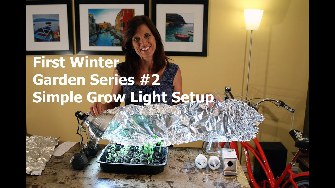 first winter garden series 2 simple grow light set up youtube