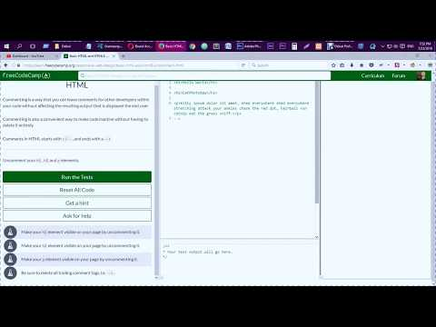 Learn Basic HTML And HTML5 Uncomment HTML FreeCodeCamp