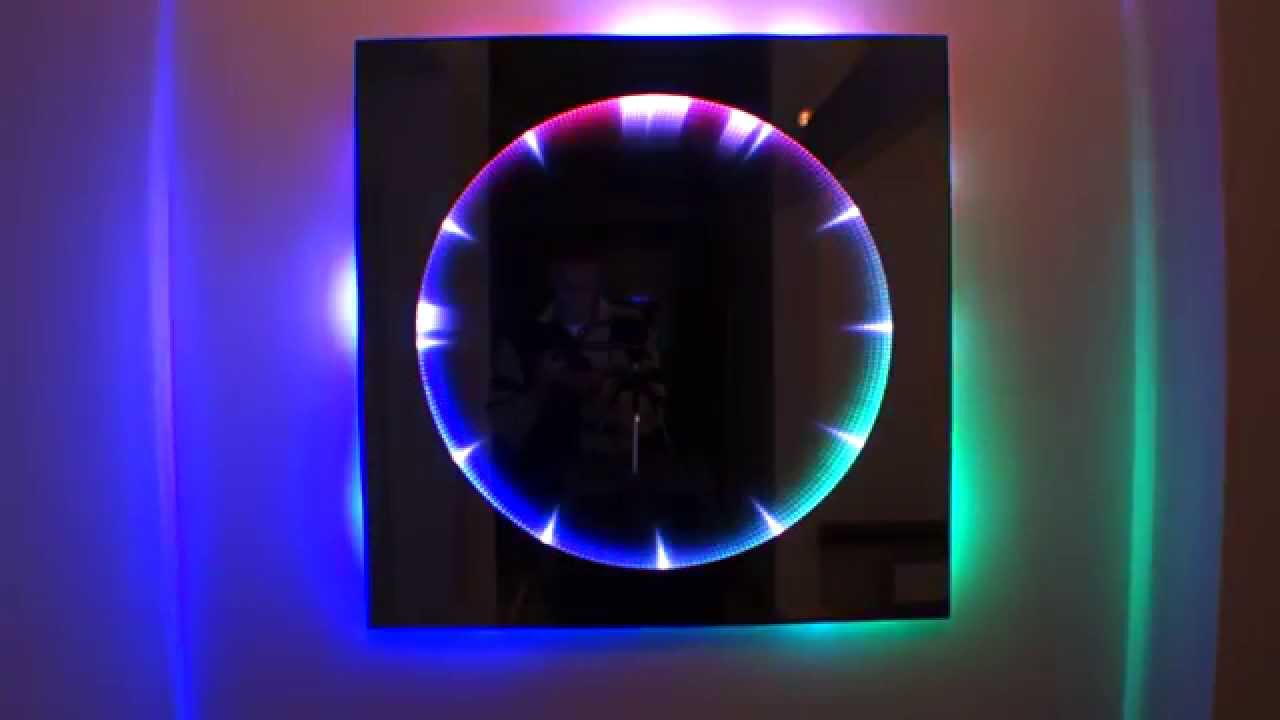 infinity mirror clock with