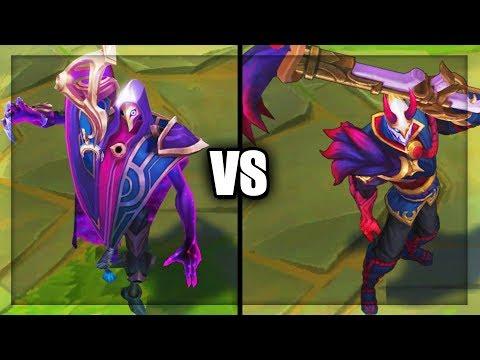 Dark Cosmic Jhin vs Blood Moon Jhin Legendary vs Epic Skins Comparison (League of Legends)