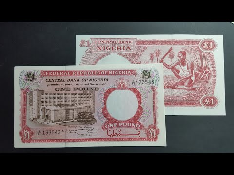 Uncirculated Nigerian 1967 Pound Banknotes