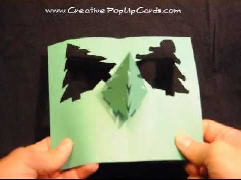 christmas pop up card simple pyramid tree youtube. Black Bedroom Furniture Sets. Home Design Ideas
