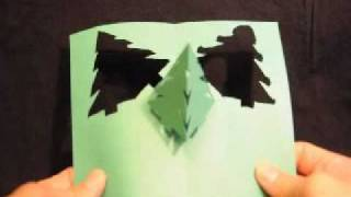 Simple Pyramid Christmas Tree Pop Up Card Template Creative Pop Up Cards