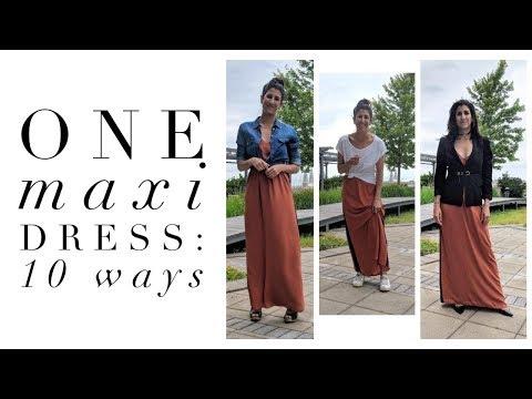 One Maxi Dress: 10 Ways   How To Style Basics   Capsule Closet   Minimalism