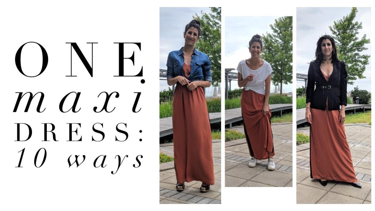 b910c6923035b1 One Maxi Dress: 10 Ways | How to Style Basics | Capsule Closet | Minimalism