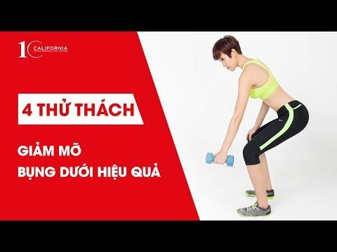 4 thử thách giảm mỡ bụng dưới hiệu quả