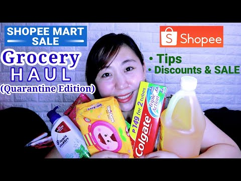 SHOPEE SALE GROCERY HAUL | Ang Daming Discounts! (Promo Tips + Exclusive Vouchers)