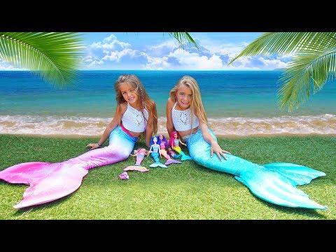 Las Ratitas se convierten en Sirenas de Barbie Arco Iris Dreamtopia!!