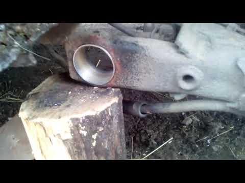 Ремонт балки на VW Passat B3, замена саленблоков, замена стоек