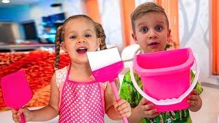 ダイアナとローマ、たちは家を掃除する Japanese