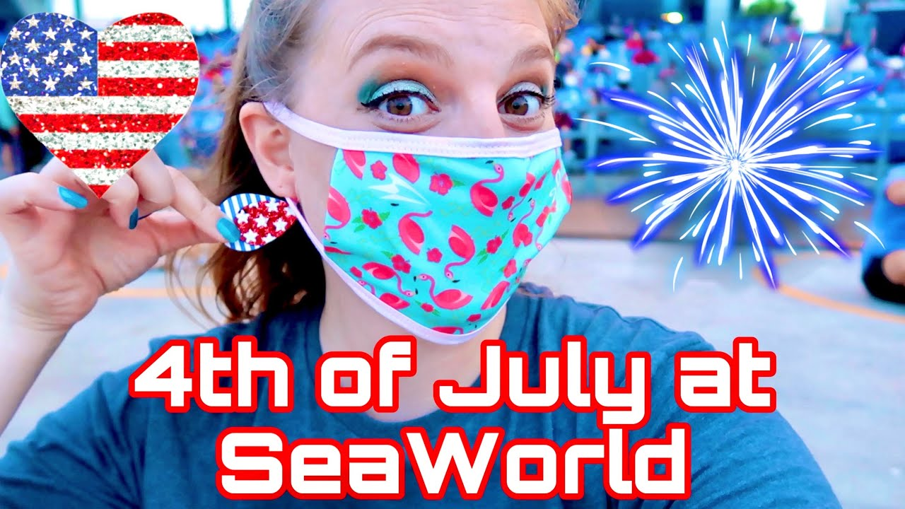 Celebrating the 4th of July at SeaWorld with Light Up the Sky Fireworks | 3 Weeks After Reopening