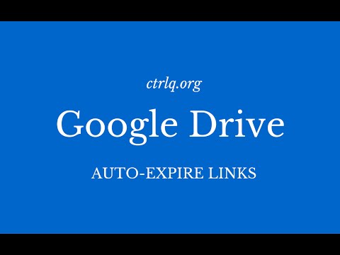 Google Drive - How to Set Expiration Dates for Shared Files & Folders
