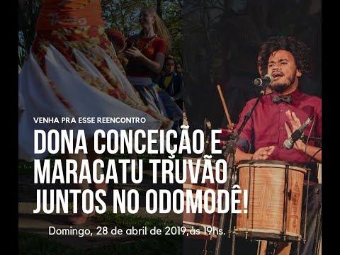 Reencontro de Dona Conceição e Maracatu Truvão
